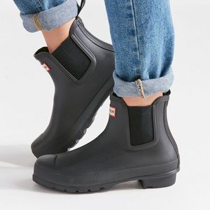 Hunter Chelsea Boots Black Size 10
